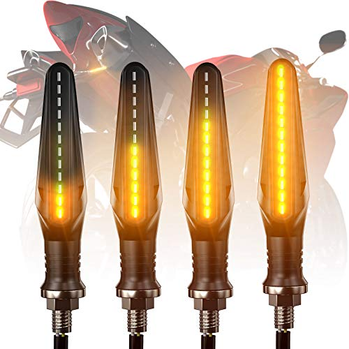 FEZZ Frecce Led Moto Universali Indicatori Di Direzione Moto LED frecce Moto Custom LED Ambra, Pack of 4