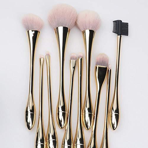 Ensemble De Pinceaux De Maquillage Pinceau Net Rouge Ins Outil Blush Sac De Tube De Stockage Portable, Doré 10K