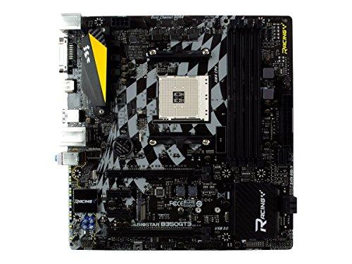 Biostar B350GT3 - Placa Base (DDR4-SDRAM, DIMM, 2667,1866,2133,2400 MHz, Dual, 64 GB, AMD)