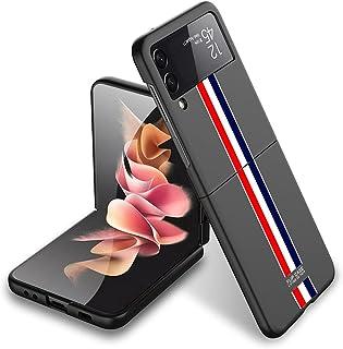 سامسونج جالاكسى زد فلب 3 (Samsung Galaxy Z Filp 3)كفر 360 درجة جيه كيه كيه قطعتين الترا ثن رسومات1- (أسود)
