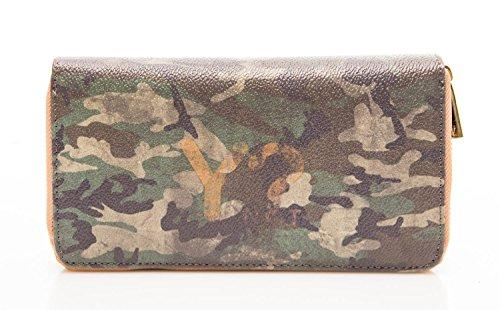 Y Not? Accessori portafoglio 19 cm camouflage verde