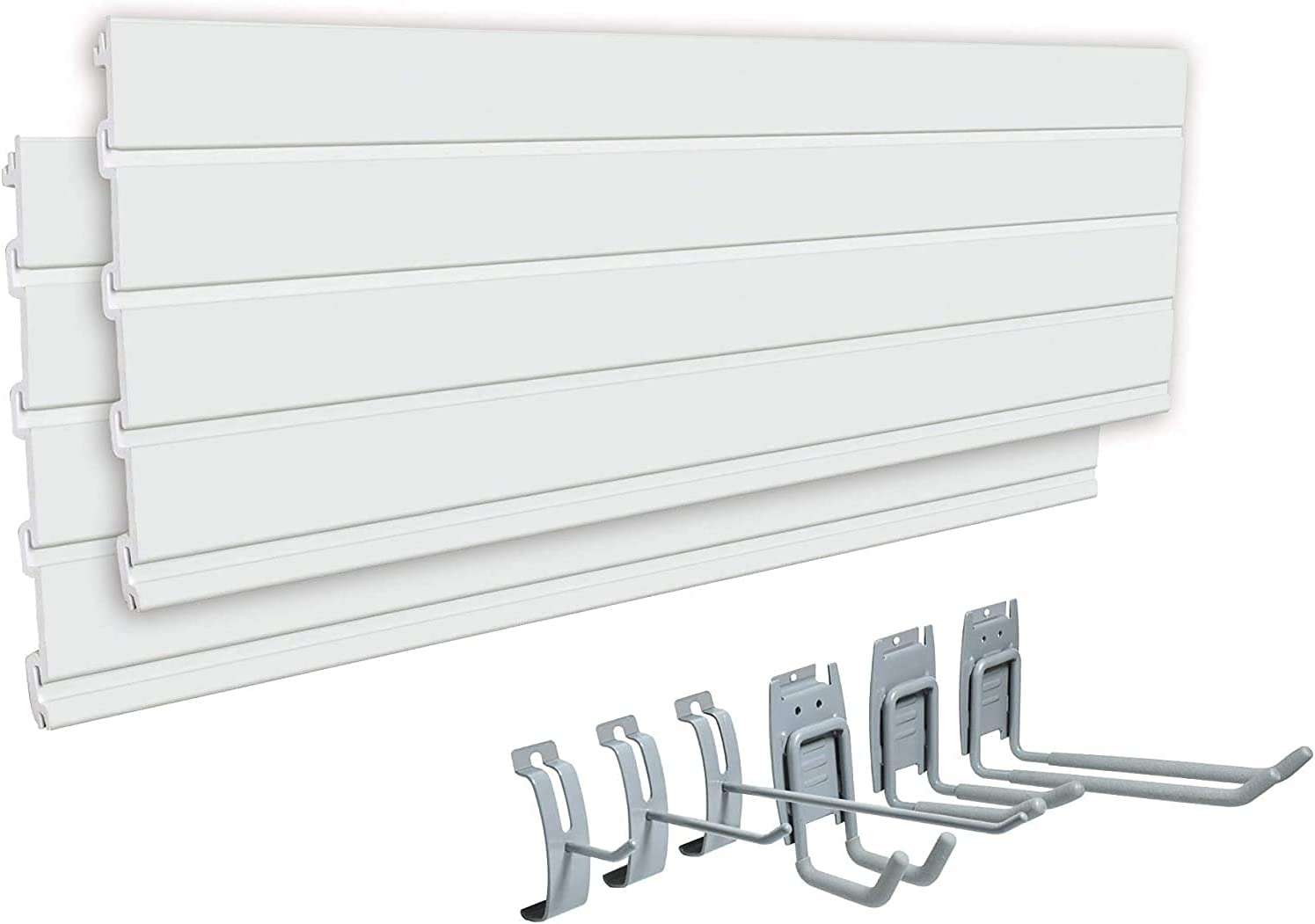 EASYUSE Home -Series Heavy Duty PVC Organizer Kit T 2PC Slatwall free shipping 67% OFF of fixed price
