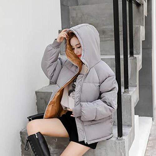 WFSDKN dames parka winter met capuchon parka jas vrouwen losse korte constructie katoen gewatteerd roze mantel mantel vrouwelijk dragen dikke jas mantel
