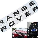 レンジローバーL-A-N-D R-O-V-E-Rカーステッカーデカールロゴの車のトランクフードテールゲートエンブレムバッジ銘板,黒