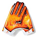 Under Armour Boys' F7 Youth Novelty Football Gloves , White (100)/White , Youth Medium