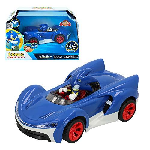 SONIC - Coche RC Sonic con luz y Turbo Bost Team Sonic Racing (ColorBaby 76997)