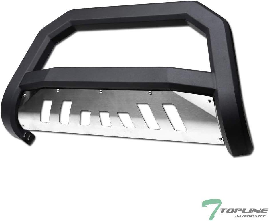 Topline Autopart Max 55% OFF OFFer Matte Black AVT Style Bar Front Bull Push Brush
