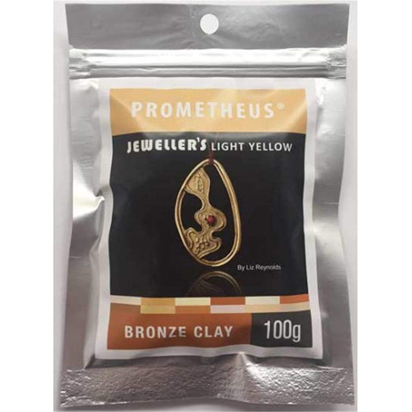 Prometheus Light Yellow Bronze Clay Rapid and Low Fire Metal Clay for Jewelry Making