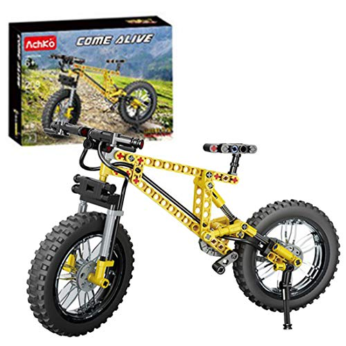 SENG Technik Mountainbike Bausteine Bausatz, 209 Teile Custom Fahrrad Modell, Klemmbausteinen Kompatibel mit Lego