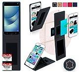Hülle für Asus Zenfone 4 Pro Tasche Cover Hülle Bumper | Schwarz Leder | Testsieger