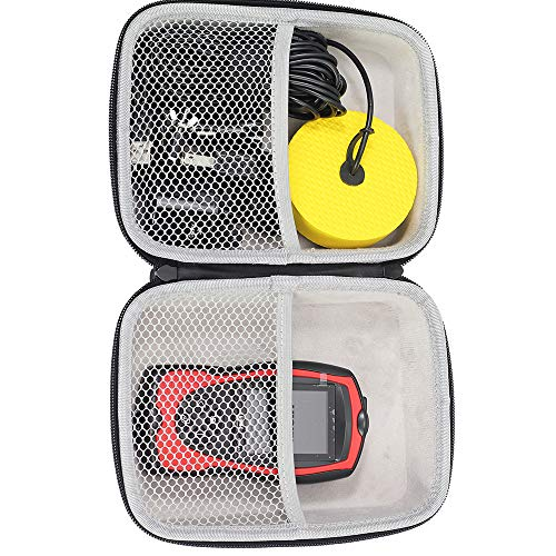 LUCKYLAKER Hard Travel Case for Lucky/LUCKYLAKER Depth Transducer Fish Finder Kayak Sonar Fish Finders Portable Boat Fishing for Canoe Ice Fishing