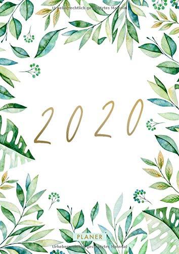 A4 Planer 2020: Din A4 Wochenplaner 2020 mit Floral Cover | 21 x 29,7 cm | 2 Seiten pro Woche | 1 Spalte pro Tag | Terminplaner Januar bis Dezember 2020