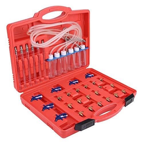 Diesel-Injektor-Durchflussmesser, 6-Zylinder-Common-Rail-Adapter für Diesel-Diagnose, Leckprüfgerät, Kraftstoffleitungs-Test-Tool-Kit