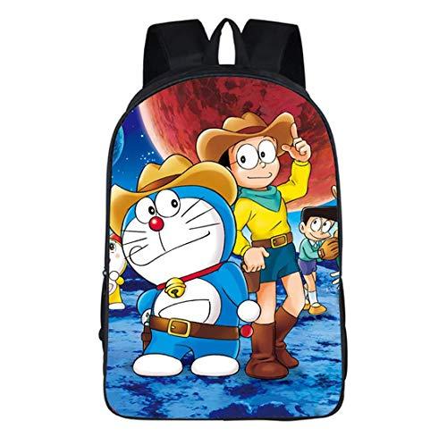 Mochila Doraemon,Mochilas Escolares para Niños,Linda Mochila De Anime,Mochila Escolar,Mochila De Personaje De Dibujos Animados,Niños Y Niñas  Grados 1-6,7-12 Años,Ligereza,C9,42 * 29 * 16CM
