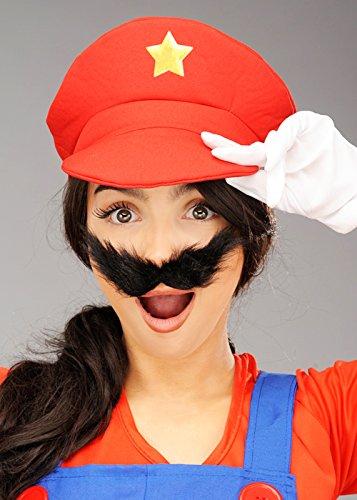 Gorra roja de Estilo Super Mario para Adulto
