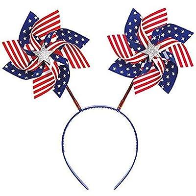 American Summer Fourth of July Pinwheels Head Bopper Accessory