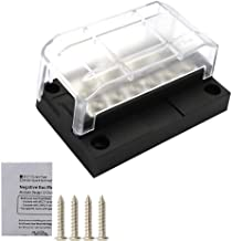 myonly 6P 12P Modular Fuse Box Blade Fuse Block Holder Screw Nut Negative Bus Bar Screw Fuse Box Block Holder