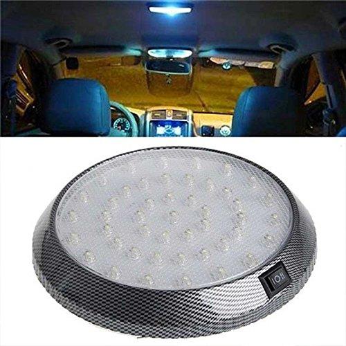 Tolyneil Auto-Dach-Licht, Auto-Versorgungsmaterial-Superhelles 12V 46 LED Selbstfahrzeug-Innenraum-Innendach-runde Lampen-Auto-Leselampe