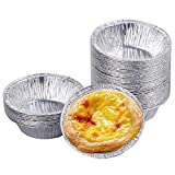 Desechables Huevo Tarta Titular Molde Papel de Aluminio Pastel de Galletas Cocina Herramienta de Hornear - DIY tarta de huevo Molde (250 PCS)