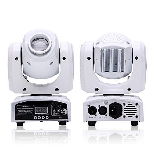 U`King Moving Head Light with RGBW 4 Color LED by DMX and...