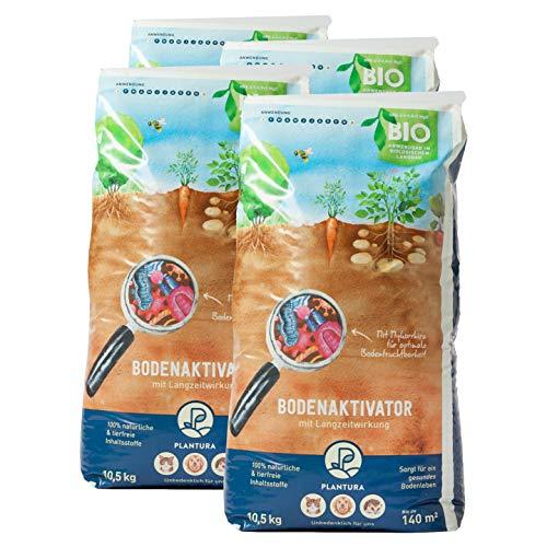 Plantura Bio Bodenaktivator mit 3 Monate Langzeit-Wirkung, 42 kg, staubarmes Granulat, unbedenklich für Haustiere, tierfreundlich, Langzeitdünger