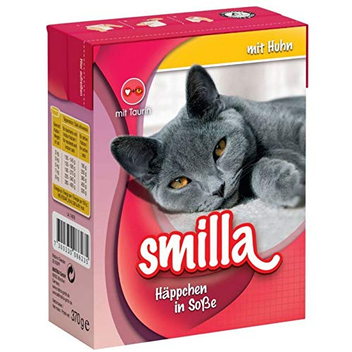 Smilla Chunks Tetra Pak Nassfutter für Katzen, 24 x 370 g - mit Huhn in Sauce