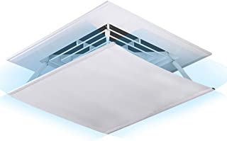 Deflector de aire acondicionado Deflector de Viento de Aire Acondicionado Central de Tela Oxford, Máquina de Techo para Hotel de Estudio de Dormitorio de Oficina, 45 × 45cm / 60 × 60cm