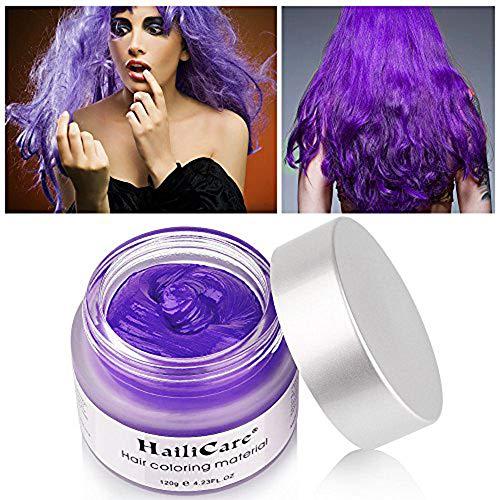HailiCare Unicorn Purple Hair Wax 4.23 oz, Hair Pomades, Dye Hair Wax, Natural Matte Hairstyle...