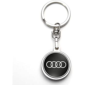 1Pack Leather Key Chain Suit for Audi Sport Car Logo Keychain Suit for Audi A1 A3 A4 A5 A6 A7 A8 Q5 Q7 R8 S5 S7 Q6 RS Key Chain Keyring Family Present for Man and Woman