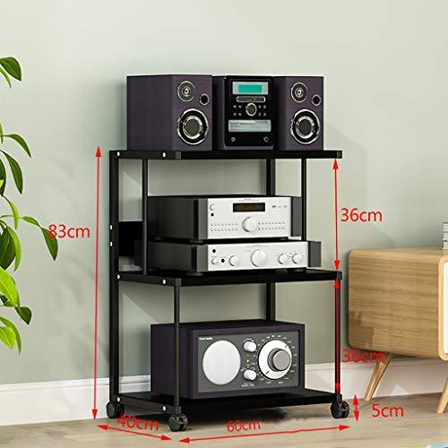GWXJZ CD opslag plank DVD audio rack DVD opslag plank, multifunctionele luidspreker versterker speciale kast 3 lagen verwijderbare cd-plank, apparatuur ondersteuning statief