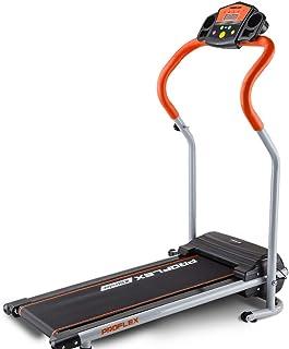 Proflex Electric Treadmill X-Strider 6-Speed Ultra Compact Electric Treadmill with 4 Training Programs, Orange