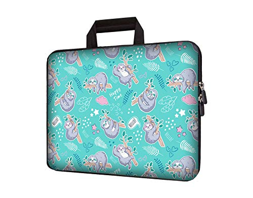 11' 11.6' 12' 12.1' 12.5' inch Laptop Carrying Bag Chromebook Case Notebook Ultrabook Bag Tablet Cover Neoprene Sleeve Fit Apple MacBook Air Samsung Google Acer HP DELL Lenovo Asus (Sloth)