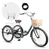 Viribus Triciclo para Adultos 26'' con Cesta Extraíble Bicicleta de 3...