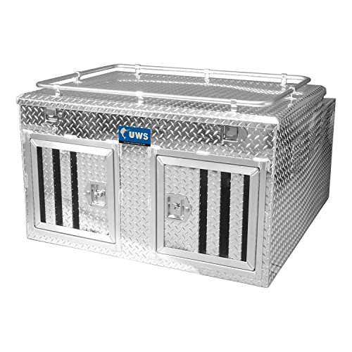 UWS DB-4848N 48' Northern 2-Door Deep Dog Box with Divider