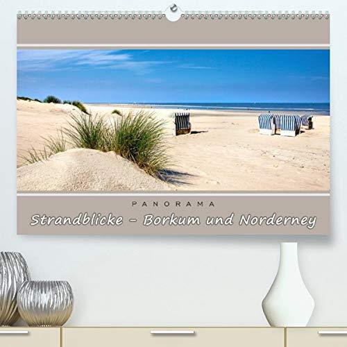 Strandblicke Borkum und Norderney (Premium, hochwertiger DIN A2 Wandkalender 2020, Kunstdruck in Hochglanz): Atemberaubende Panorama-Strandbilder (Monatskalender, 14 Seiten )