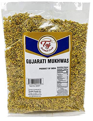 TAJ Premium Indian Gujarati Mukhwas (Mouth Freshener, Digestive Snack), (14 Ounce)