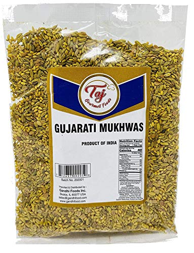 TAJ Premium Indian Gujarati Mukhwas (Mouth Freshener, Digestive Snack), (14 Ounce)