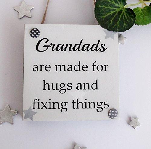 Craftworks Originals Grandads zijn voor knuffels en het repareren van dingen Verjaardag/Vaderdag houten plaque