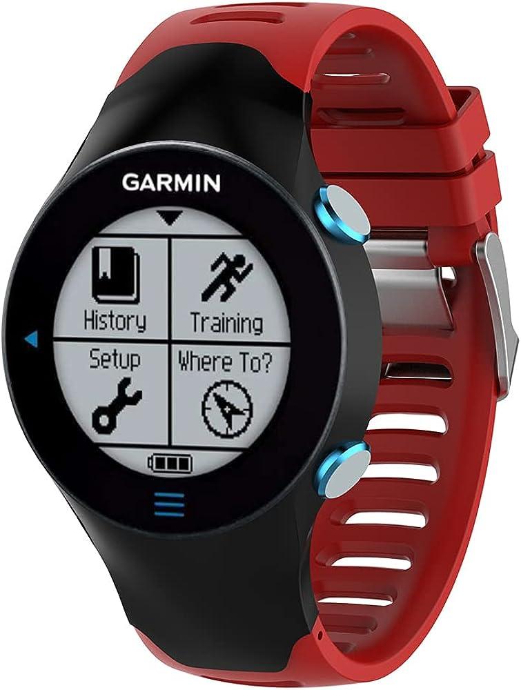 KINOEHOO Correas para relojes Compatible con Garmin Forerunner 610 Pulseras de repuesto.Correas para relojesde silicona.