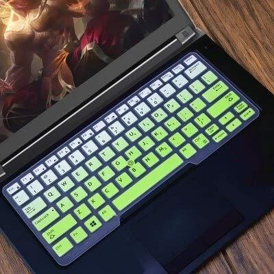 Durable keyboard stickers Laptop Keyboard Cover Protector Skin for 14' Dell Latitude 5450 3340 7480 7490 5490 5491 E5450 E5470 E7450 E7490 E5490 Keyboard accessories (Color : GradualGreen)