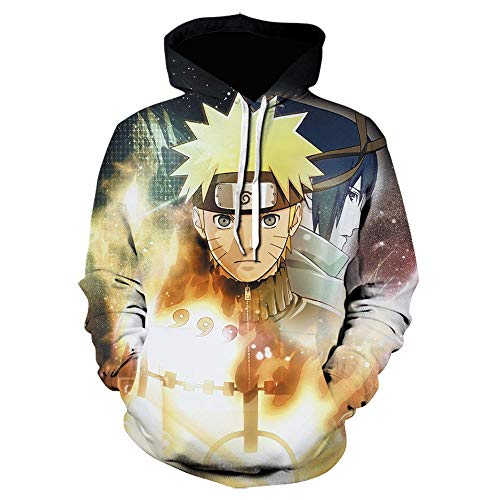 lanying Sudaderas Hombre con Capucha Outfits Outwear,Suéter de otoño / Invierno para Hombre Naruto Kakashi, Sudadera con Capucha Impresa en 3d-WE-1344_S