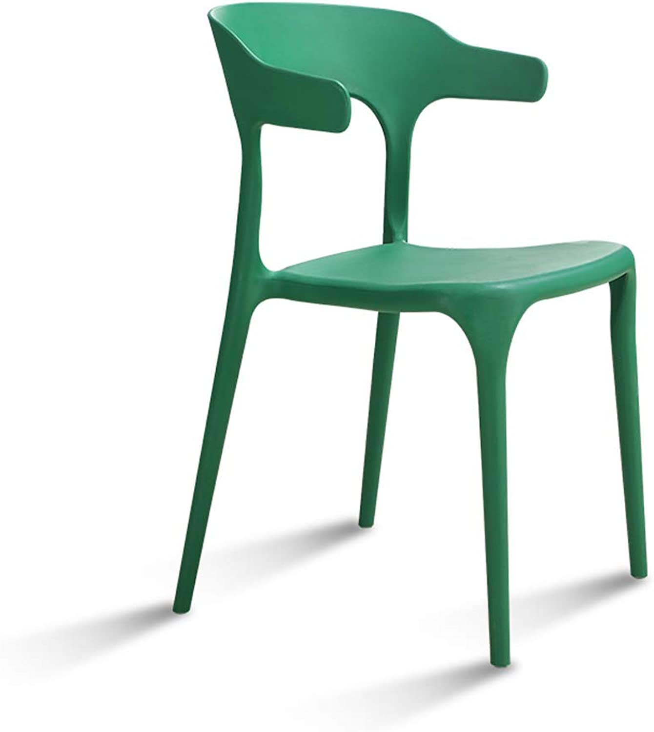 QIQI-DENG Plastic Dining Chair Living Room Home Bench, Simple Bar Stool Restaurant Table and Stool -L5148H46-77CM (color   Green)