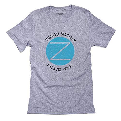 Team Zissou Society Iconic Seal Mens Cotton T-Shirt Grey