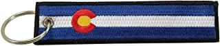 Colorado Flag Key Chain, 100% Embroidered