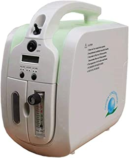 Oxygen Concentrator, 1-5L/min Adjustable Portable Oxygen Machine for Home and Travel Use, AC 110V Humidifiers - Green