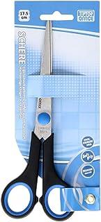 TIPTOP OFFICE TTO 404805 TTO Ciseaux de bureau avec poignée souple Bleu/noir 17,5 cm