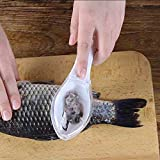 Fast Remove Fish Skin Brush Plastic Fish Scales Graters Scraper Easy Kitchen Cleaning Tool (White)