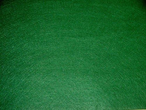 Pandoras Upholstery 150cm Wide Felt Baize Poker Bridge Card Craft Table - Green Per Metre