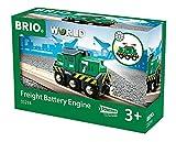 Brio World - 33214 - Locomotive de Fret à pile - Train électrique - Fonction lumineuse - Pour circuit de train en bois - Jouet mixte à partir de 3 ans