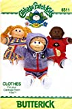 Butterick 6511 Sewing Pattern Cabbage Patch Kids Clothes